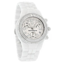TechnoMarinE DTC55C MoonSun White Ceramic Chrono Swiss Diamond Ret $3650.00  NEW