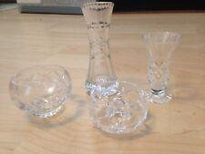 Glass crystal ornaments, vases dish, trinket bowl