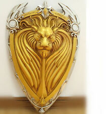 1:1 WOW World of Warcraft The Alliance Gold Lion Shield Larp For Cosplay Movie