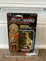 STAR WARS LUKE SKYWALKER PONCHO POTF AFA 75+Y MOC KENNER VINTAGE 1985 HIGH SUBS
