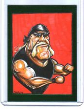TNA Hulk Hogan Caricature #100 2013 Impact Wrestling LIVE GREEN Short Print Card