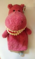 RARE Toothy The Hippo Hand Puppet JELLYCAT London + Tags HARD TO FIND