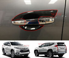 Carbon Handle bowl Insert Cover Trim New Mitsubishi Pajero Sport 4DR SUV 2016