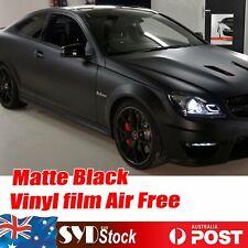 Car Vinyl Film Wrap Wrapping Matte Black Hood Roof Dashboard Sticker 5M x 1.51M