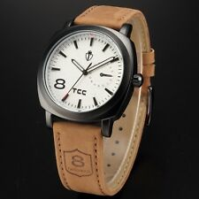 Military Army Quartz Wrist Watch CURREN Men's Leather Strap Sport Formal New Hot