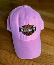 PINK OFFICIAL WOMENS MOTORCYCLE BIKER HARLEY DAVIDSON QUALITY HAT BASEBALL CAP