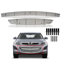 Fit  2010-2012 Mazda CX-9 Lower Bumper Chrome Billet Grille Grill Insert Combo