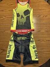 2Xu Independent Athletes Inc. Custom Long Distance Tri Singlet and Short Size Sm