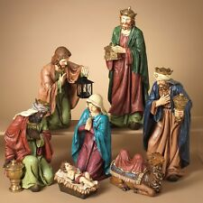 "DELUXE HAND PAINTED 22.3"" 7 PIECE RESIN NATIVITY SET CHRISTMAS HOLIDAY DECOR"