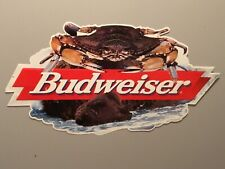 Budweiser Crab Tin Beer Sign