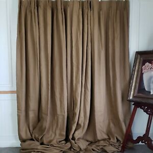 Casa Fiora Luxury Drapes French Pleat Linen Weighted Lined 42W 125L Room Darken