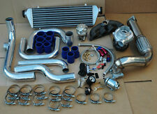 CIVIC 92-95 EG B16 B18 ALUMINUM BLOT-ON TURBO KIT INTERCOOLER +  PIPING + SSQV