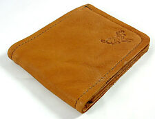 Red Brown BUCKSKIN DEER LEATHER Bi Fold Wallet Hand Crafted by Disabled Veteran