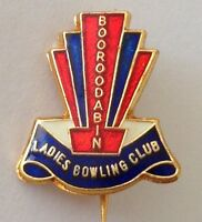 Booroodabin Ladies Bowling Club Badge Pin Rare Vintage (M16)