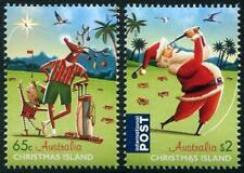 Noël 2017 lot de 2 MNH Tampon Noël Island Père Noël Renne ELF GOLF