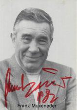 Autogramm - Franz Muxeneder