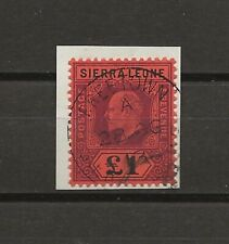 SIERRA LEONE 1911 SG 111 USED Cat £250 . CERT