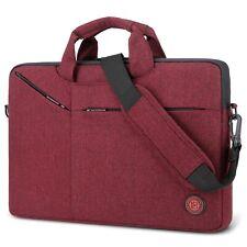 """15.6"""" Laptop Messenger Shoulder Bag Sleeve Case Handbag Briefcase for HP IBM Red"""