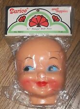 "Darcie Dimple Doll Face 4.5"" Vintage Celluloid Plastic Craft Mask NIP B48-3"