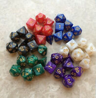 7PCS/Set Polyhedral Cube & Bag Multi Color Set For DnD RPG 4 6 8 10 12 20 D4-D20