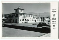 101320 VINTAGE RPPC REAL PHOTO POSTCARD EATONS RESTAURANT SANTA BARBARA CA 1940S