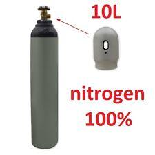 NEW 100% Nitrogen Gas FULL Bottle Cylinder 10 Liter 200 Bar Pure Welding Gas