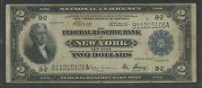 "FR752 $2 1918 FRBN ""BATTLESHIP"" NOTE CHOICE VF HW5608"