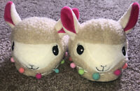 BOBBIE BROOKS NEW W/ TAGS YOUTH GIRLS SIZE Medium 11/12 Llama Slippers Very Soft