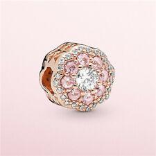 DIY Rose Gold European Charm Crystal Spacer Beads Fit Necklace Bracelet NEW !!!