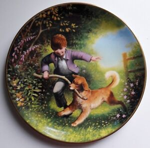 Wedgwood 'LET'S RUN, BOY!' PLATE, Retro, vintage, shabby chic
