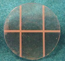 "Cross Hatch Round Window 1 15/16"" & a 1 3/8"" Square Mirror Miniature Dollhouse"