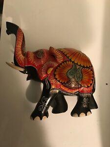 vintage indian painted elephant
