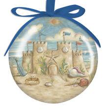 Beautiful Sandcastle Ball Shatter-Proof Ornament. Nautical Christmas Decor. New!