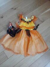 Girl's Halloween orange fairy witch costumes age 3-5