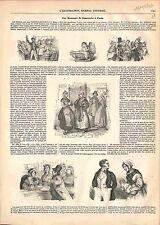 Bureaux de Nourrices à Paris Nourrissons Berceaux Enfants Bébé GRAVURE 1847