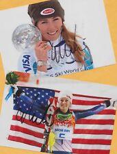 Mikaela shiffrin - 2 top autógrafo imágenes (23) - Print copies + ski ak firmado