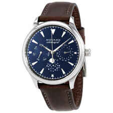 Movado Heritage Moonphase Navy Dial Ladies Watch 3650009