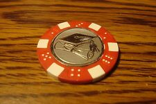#1 GRADUATION Silver Foil Design Dice Poker Chip, Golf Ball Marker,Card Guard  r