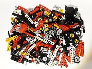Lotto Lego technic sfuso vintage, 500 gr. di pezzi sfusi, ingranaggi, pneumatici