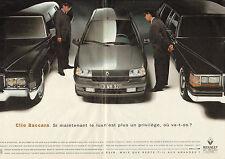 Publicité Advertising 1993 (double page)  RENAULT Clio Baccara