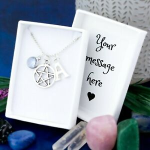 Pentacle Necklace, Personalised Gift, Witchy Gifts, Pentagram Charm, Witchcraft