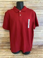 Goodfellow & Co. Short Sleeve Polo Shirt Size XL Mens NWT New Red Golf Top S/S