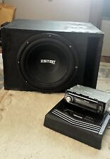Car Audio Package including Stereo, Amplifier, and Subwoofer w/ Box Enclosure