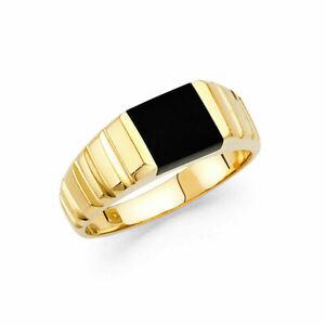14K Yellow Gold Onyx Men's  Ring / Avg. Weight - 4.8 grams