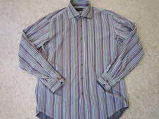 ETRO MILANO shirt Multi-color Striped Made in Italy!!!! Long sleeve  NICE!!!!!