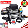 13000LBS 12V Electric Recovery Winch Truck SUV Wire Rope Remote Control 4WD USA