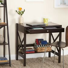 WM385122 X-Desk Expresso with Drawer and Open Self