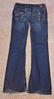 BKE Womens Jeans Stella Stretch Bootcut from Buckle Distressed Wash Size 27 X 30