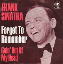 disco 45 GIRI Frank SINATRA FORGET TO REMEMBER - GOIN' OUT OF MY HEAD
