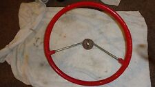 1961 PLYMOUTH DODGE DESOTO NOS MOPAR STEERING WHEEL RED BEAUTIFUL